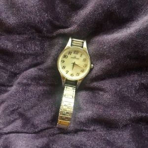 Anne Klein Stainless Steel Watch with Elastic Band